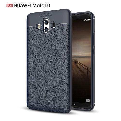 Чехол накладка силиконовый TPU Litchi Grain для Huawei Mate 10 синий