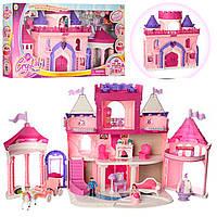 Игровой набор замок принцессы 16398: фигурки, лошадь с каретой + мебель