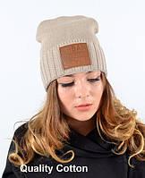 Удобная вязаная шапка унисекс