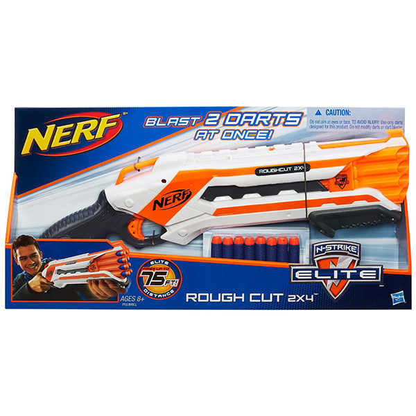 Нерф Бластер Элит - NERF® ROUGH CUT 2x4 дробовик (A1691)