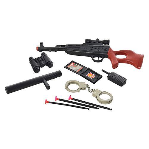Набор полицейского 322-29-31-34  ружье, на присосках, наручники, в кульке, 50-19-5см