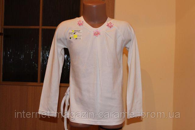 Школьная блуза для девочек. Интерлок. Белая