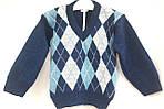 Детский свитер на мальчика (ромбик)