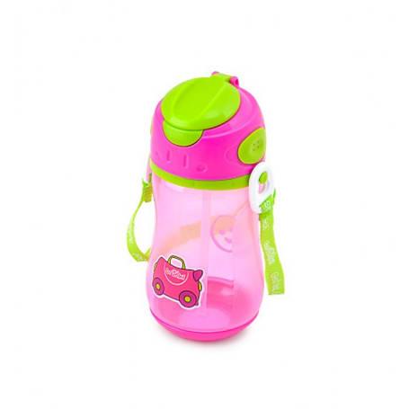 Поильник с трубочкой Trunki розовый, фото 2