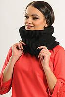Великолепный шарф-хомут! Снуд. Капор черный