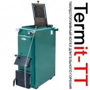 Твердотопливный дровяной котел длительного горения TERMit-TT 12 ЭКОНОМ (Термит, без теплоизоляции, мощность 12 кВт) + регулятор тяги