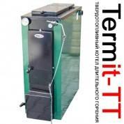 Твердотопливный дровяной котел длительного горения TERMit-TT 12 СТАНДАРТ (Термит, с теплоизоляцией, мощность 12 кВт) + регулятор тяги