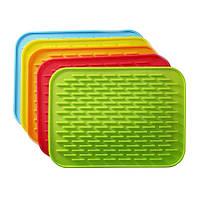 Силиконовый коврик для сушки посуды (21*15 см.) - удобный кухонный аксессуар