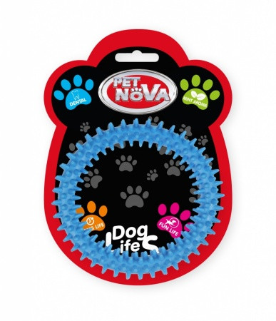 Игрушка для собак Кольцо DentRing Pet Nova 12.5 cм синий