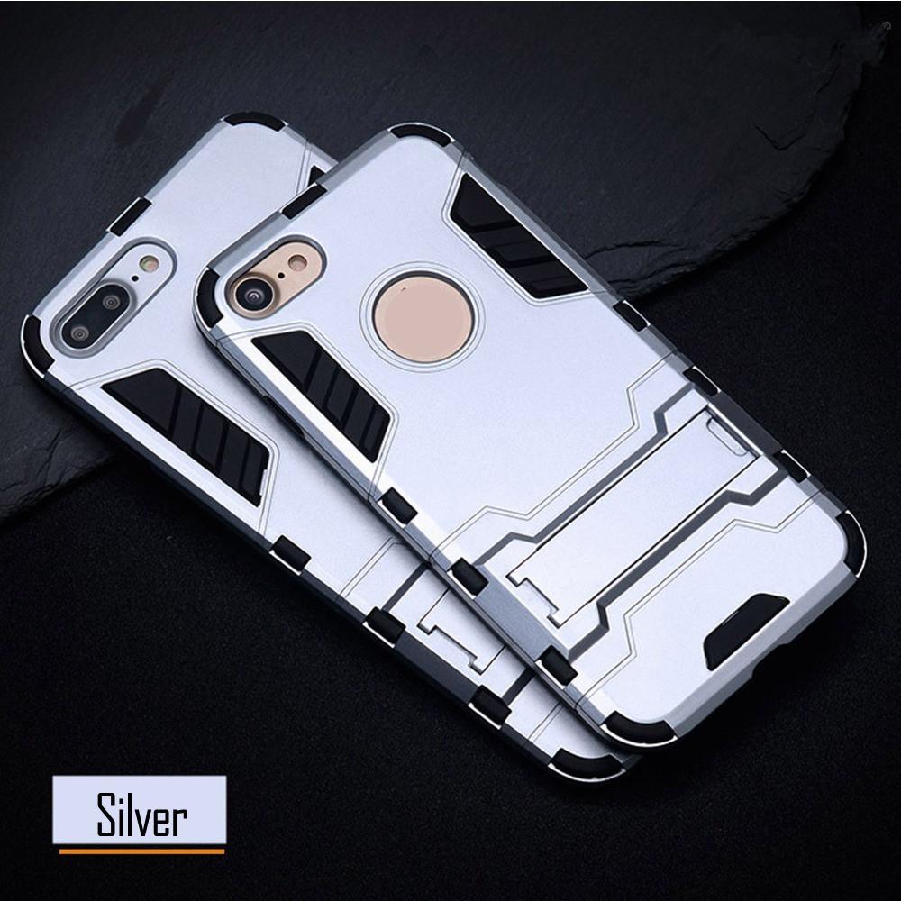 Чехол Apple Iphone 5 / 5S / SE Hybrid Armored Case светло-серый