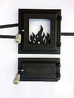 Печные дверки «Огонь раздельный черный»