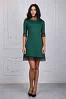 Благородное изумрудное платье молодежного фасона размер:44,46,48,50