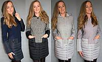 Женское комбинированное пальто №50 (р.42-48)
