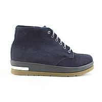 Зимние замшевые женские ботинки на меху UNCIA SHOES