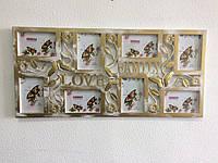ТОП ВЫБОР! Фоторамка коллаж на стену Бабочки (29) - цвета в ассортименте, 1002094, фоторамки коллажи фотографи