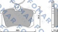 465381 FOMAR Колодки тормозные задние дисковые