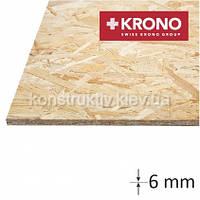 ОSB плита  Krono (1250*2500*6) влагостойкая