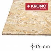 ОSB плита  Krono (1250*2500*15) влагостойкая