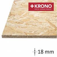 ОSB плита  Krono (1250*2500*18) влагостойкая