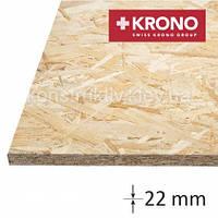 ОSB плита  Krono (1250*2500*22) влагостойкая