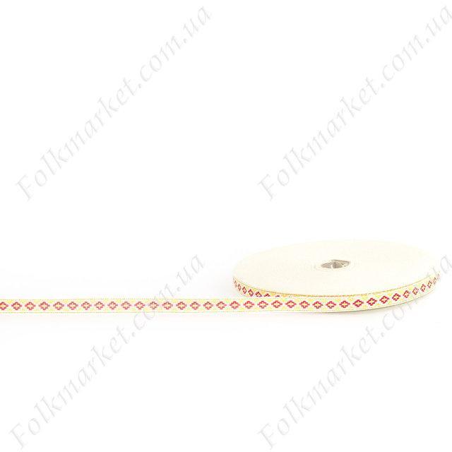 Лента металической нитью с орнаментом 11 мм 0113-7