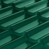 Металлочерепица Антиб 0,5мм глянец RAL 6005 зеленая