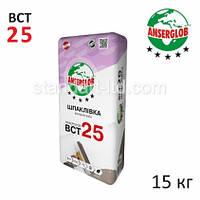 Шпатлевка фасадная Anserglob ВСТ-25, белая 15 кг