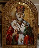 Иконы на сусальном золоте. Икона писаная Святой Николай Чудотворец, фото 4
