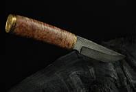 """Охотничий нож ручной работы """"Лисичка"""", дамасск"""