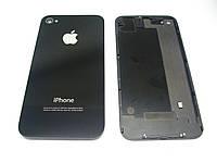 Задняя крышка для iPhone 4, цвет черный, копия высокого качества