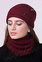 Комплект женская шапка и шарф труба VOGUE