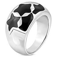 Массивное женское кольцо «Звезда», в наличии 16.5, 18