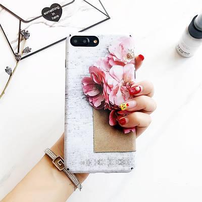 Чехол накладка на iPhone 6/6s  c цветком, матовый пластик