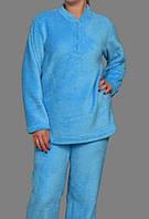 Женская пижама махровая (велсофт) теплая кофта с брюками Украина