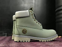 Ботинки в стиле Timberland 6 inch Natural Khaki (Без меха) мужские тимберленд