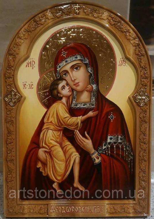 Икона писаная Фёдоровская Пресвятая Богородица