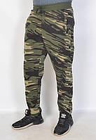 Мужские штаны утепленные на байке в стиле милитари - 41-479