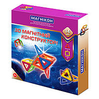Магнитный 3Д конструктор Магникон 14 дет. (МК-14)