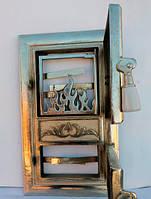 Дверцы печные «Огонь никель»