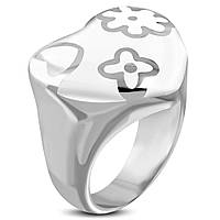 Кольцо «Белое сердце», в наличии 18, фото 1