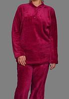 Махровая пижама женская (велсофт) теплая кофта с брюками Украина