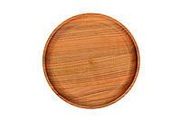 Деревянная тарелка круглая 24см, фото 1