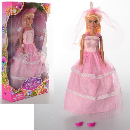 Кукла DEFA 8065  невеста, 28см, в кор-ке, 17,5-32,5-5,5см