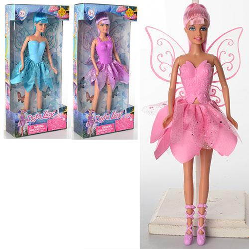 Кукла DEFA 8324  фея, с крыльями, 29см, 3 вида, в кор-ке, 15-32-5,5см