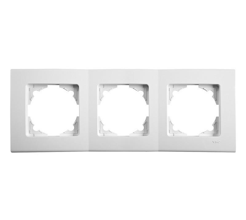 Тройная горизонтальная рамка VIKO Linnera Белая 90480003