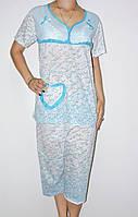 Пижама женская полубатальная. В ростовке 5 шт.(разные цвета). Размер ХL-5XL. (46-54). 100%cotton.