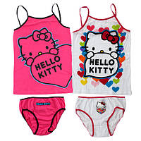 Комплект нижнего белья для девочек Hello Kitty оптом, 4/6-10/12 лет.