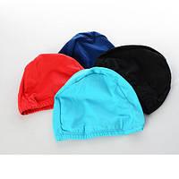 Шапочка для плавания MS 1019  ткань, 21-15см, 4 цвета, в кульке, 9-17-1см