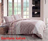 Комплект постельного белья ранфорс  Altinbasak евро размер Santana kofe