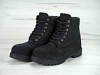 Зимние ботинки женские с мехом Timberland 6 Inch Black Реплика